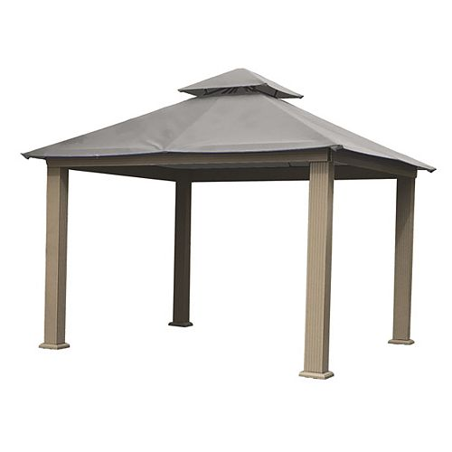 12 ft. Sq. Gazebo -Mist Gray