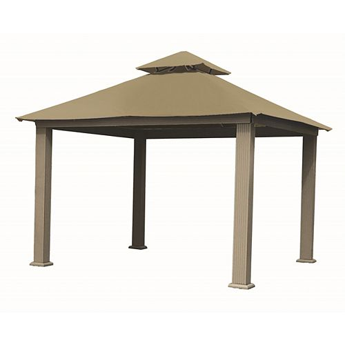 12 ft. Sq. Gazebo -Khaki