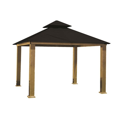 14 ft. Sq. Gazebo -Black