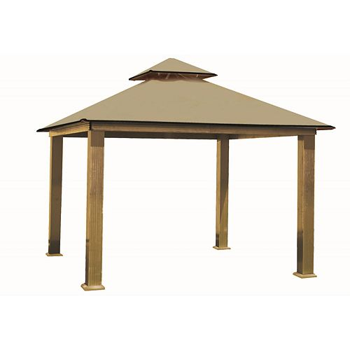 14 ft. Sq. Gazebo -Khaki
