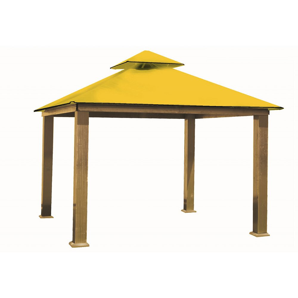 ACACIA 14 ft. Sq. Gazebo -Yellow