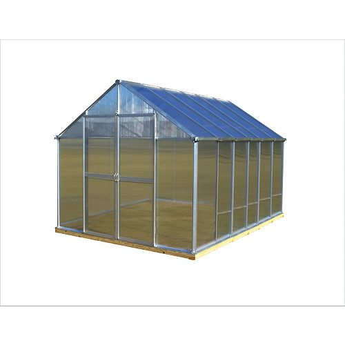 Monticello 8 ft. X 12 ft. Aluminum Greenhouse