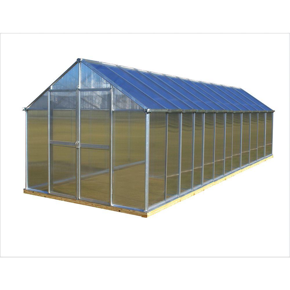 Monticello 8 ft. X 24 ft. Aluminum Greenhouse