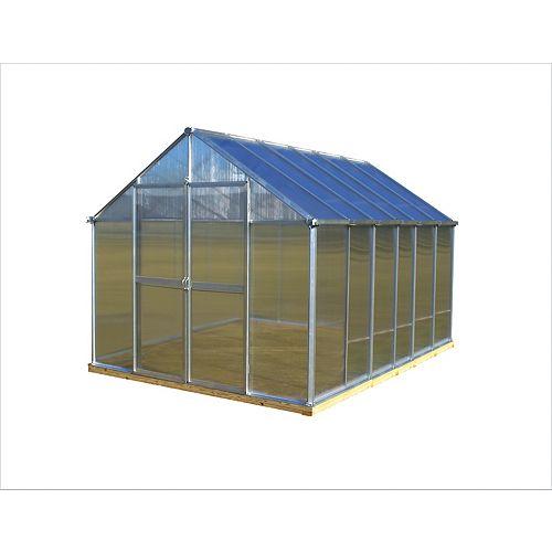 Monticello 8 ft. X 12 ft. Aluminum Greenhouse - Premium Package