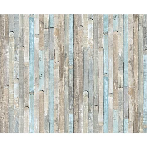 346-0644 Home Decor Self Adhesive Decor 17-inch x 78-inch Beach Wood - (2-Pack)