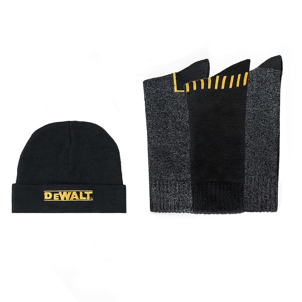 DEWALT Everyday Cotton Blend Work Sock & Knitted Hat Set