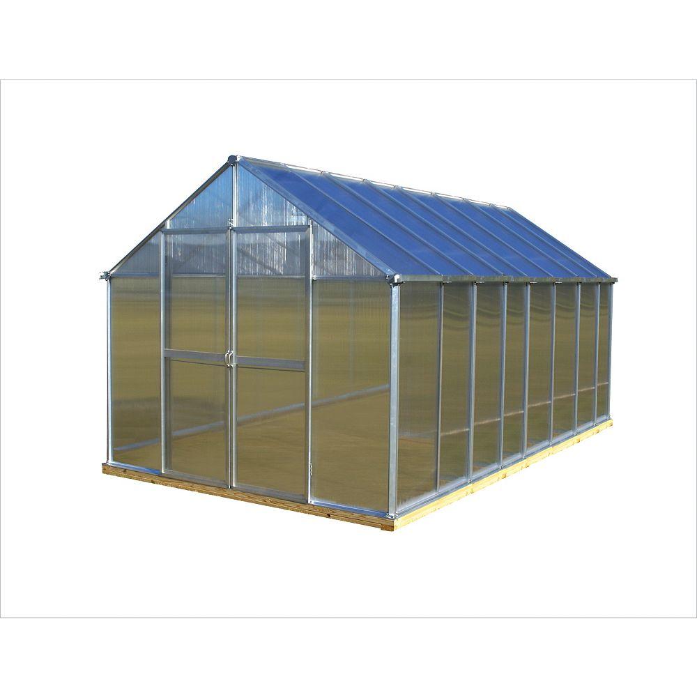 Monticello 8 ft. X 16 ft. Aluminum Greenhouse - Premium Package