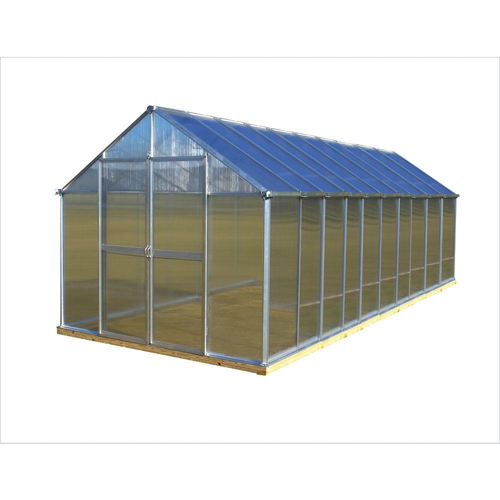 Monticello 8 ft. X 20 ft. Aluminum Greenhouse - Premium Package