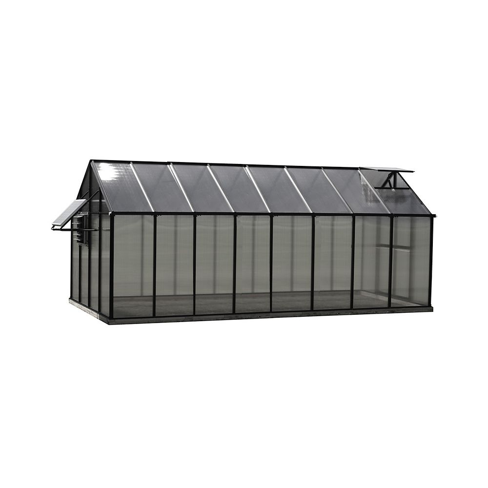 Monticello Greenhouse 8 ft. X 16 ft. Black Greenhouse - Mojave Edition+I46