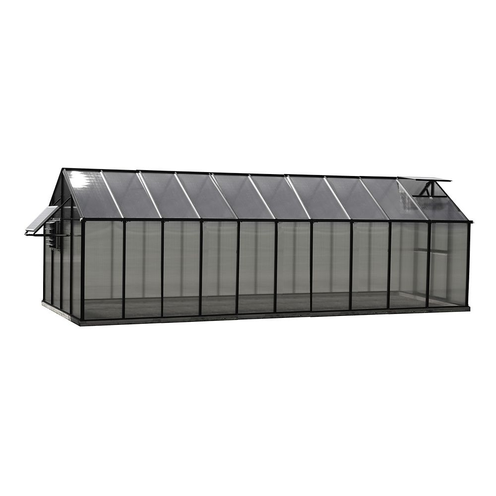 Monticello Greenhouse 8 ft. X 20 ft. Black Greenhouse - Mojave Edition