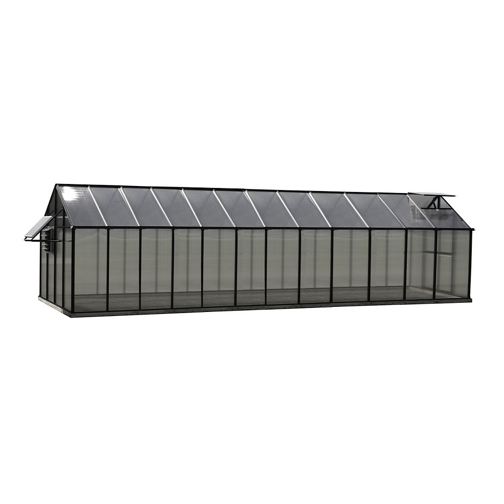 Monticello Greenhouse 8 ft. X 24 ft. Black Greenhouse - Mojave Edition