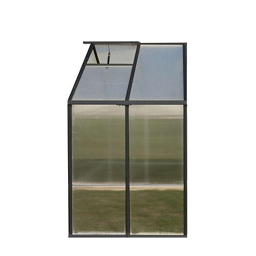 8 ft. X 4 ft. Greenhouse Extension - Black (Premium)