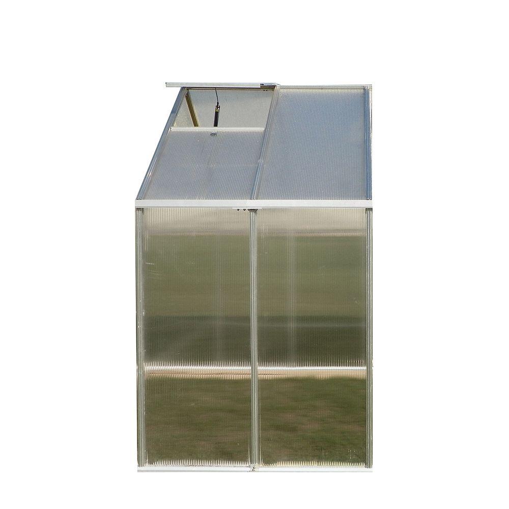 Monticello 8 ft. X 4 ft. Greenhouse Extension - Aluminum (Premium)