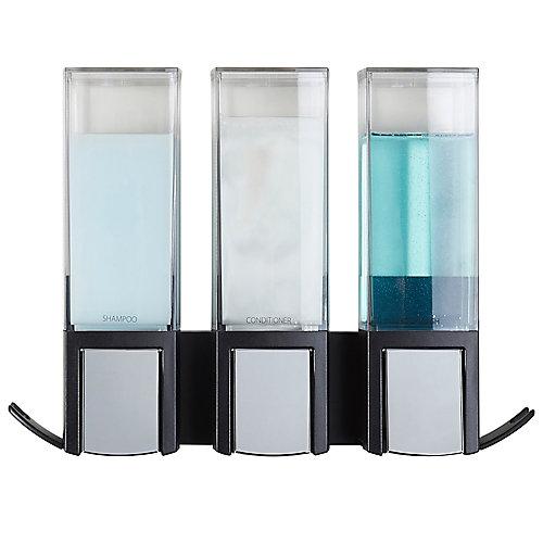 Clever Triple Dispenser Black