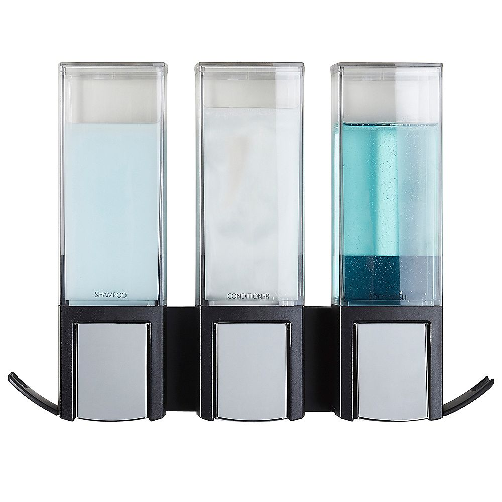 Better Living Clever Triple Dispenser Black