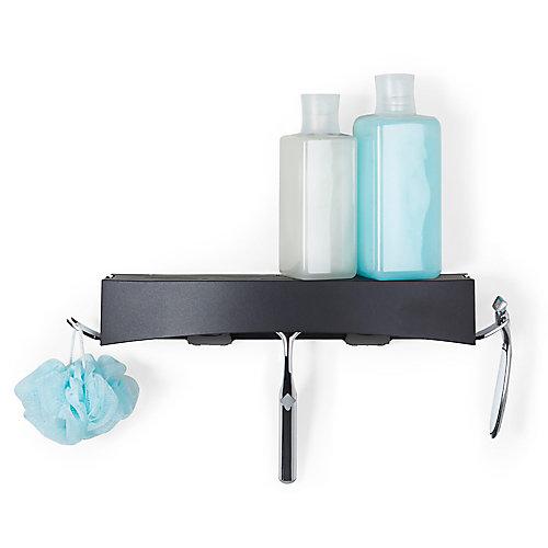 Clever Flip Shower Shelf Black