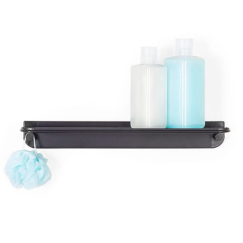 Glide Shower Shelf Black Aluminum