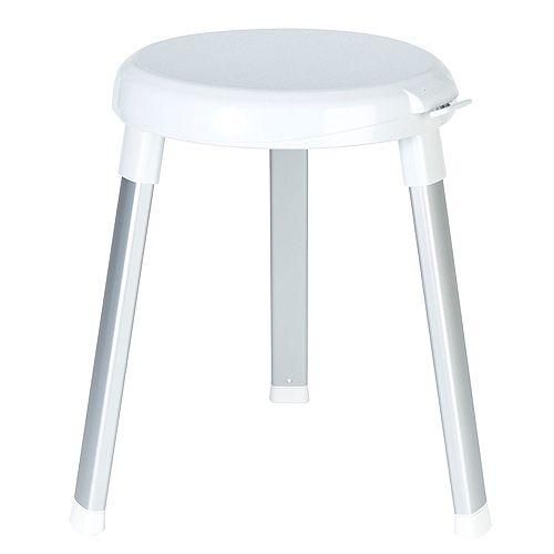 Swivel 360 Shower Seat White