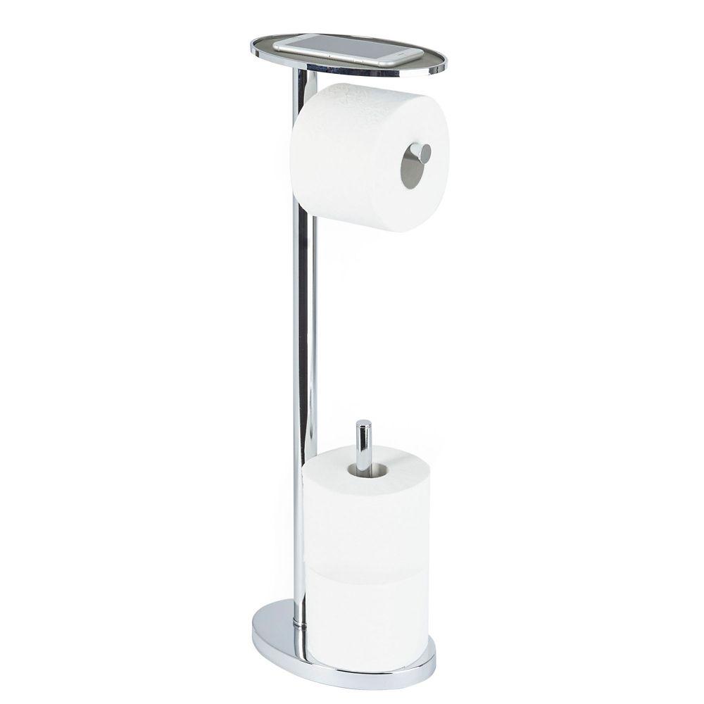 Bathroom Toilet Tissue Paper Roll Storage Holder Stand Freestanding Toilet Paper Roll Holder Stand Chrome Walmart Com Walmart Com