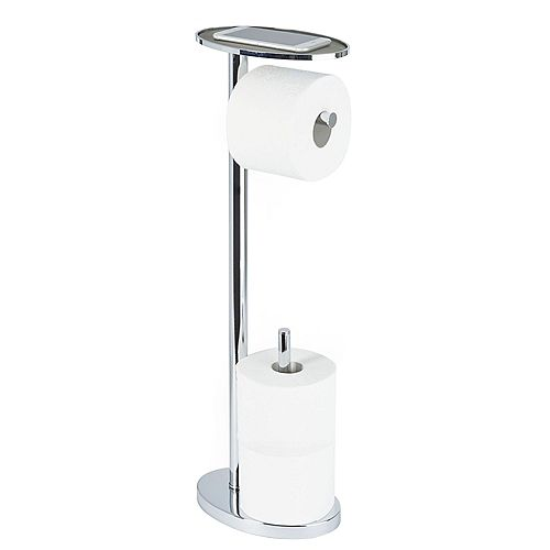 Ovo Toilet Caddy in Chrome