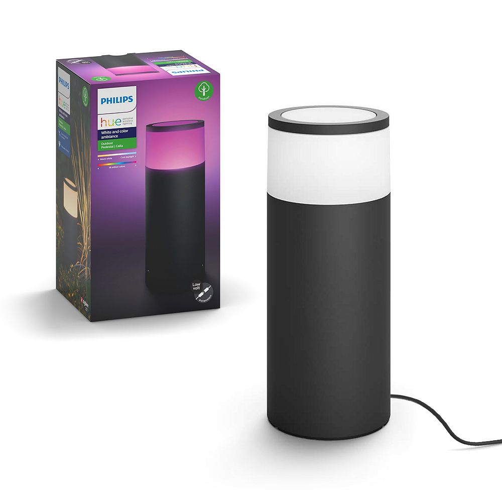 Philips Hue Calla White and Multi-Colour Ambiance Single Outdoor Bollard