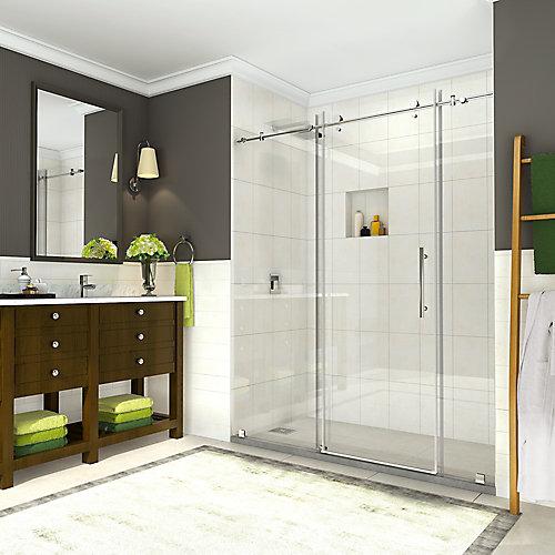 Coraline 68-inch to 72-inch x 76-inch Frameless Sliding Shower Door in Chrome