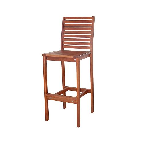Malibu Outdoor Patio Wood Bar Chair