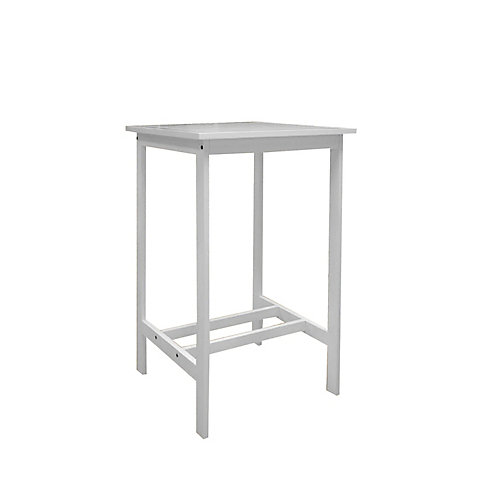 Bradley Outdoor Patio Wood Bar Table in White