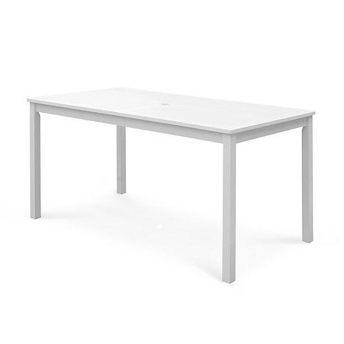 Bradley Outdoor Patio Wood Rectangular Dining Table