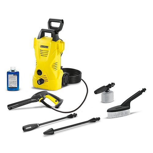 K2 1600PSI 1.25GPM Electric Pressure Washer Car Care Kit