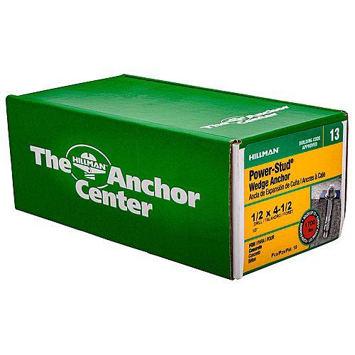 1/2 x 4-1/2-inch Wedge Anchor - 10pcs