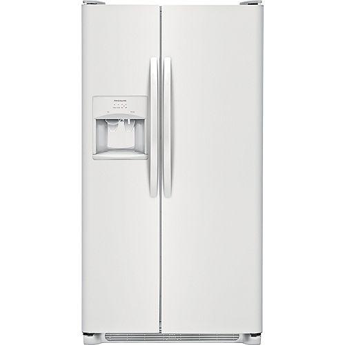 Frigidaire 33-inch W 22.1 cu. ft. Side by Side Refrigerator in White