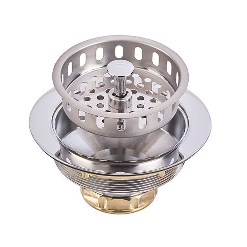 Deluxe Brass Strainer Basket Assembly