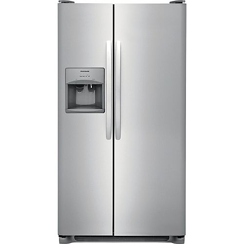 36-inch W 25.6 cu. ft. Side by Side Refrigerator in Stainless Steel