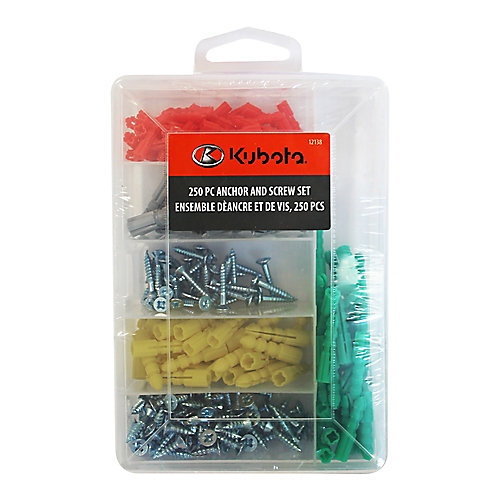 250-Piece Anchor and Screw Set