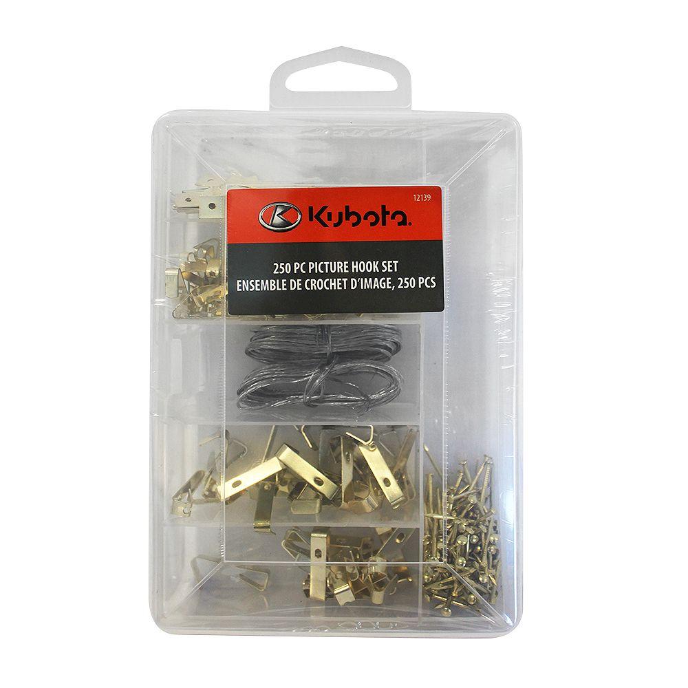 Kubota 250-Piece Picture Hook Set