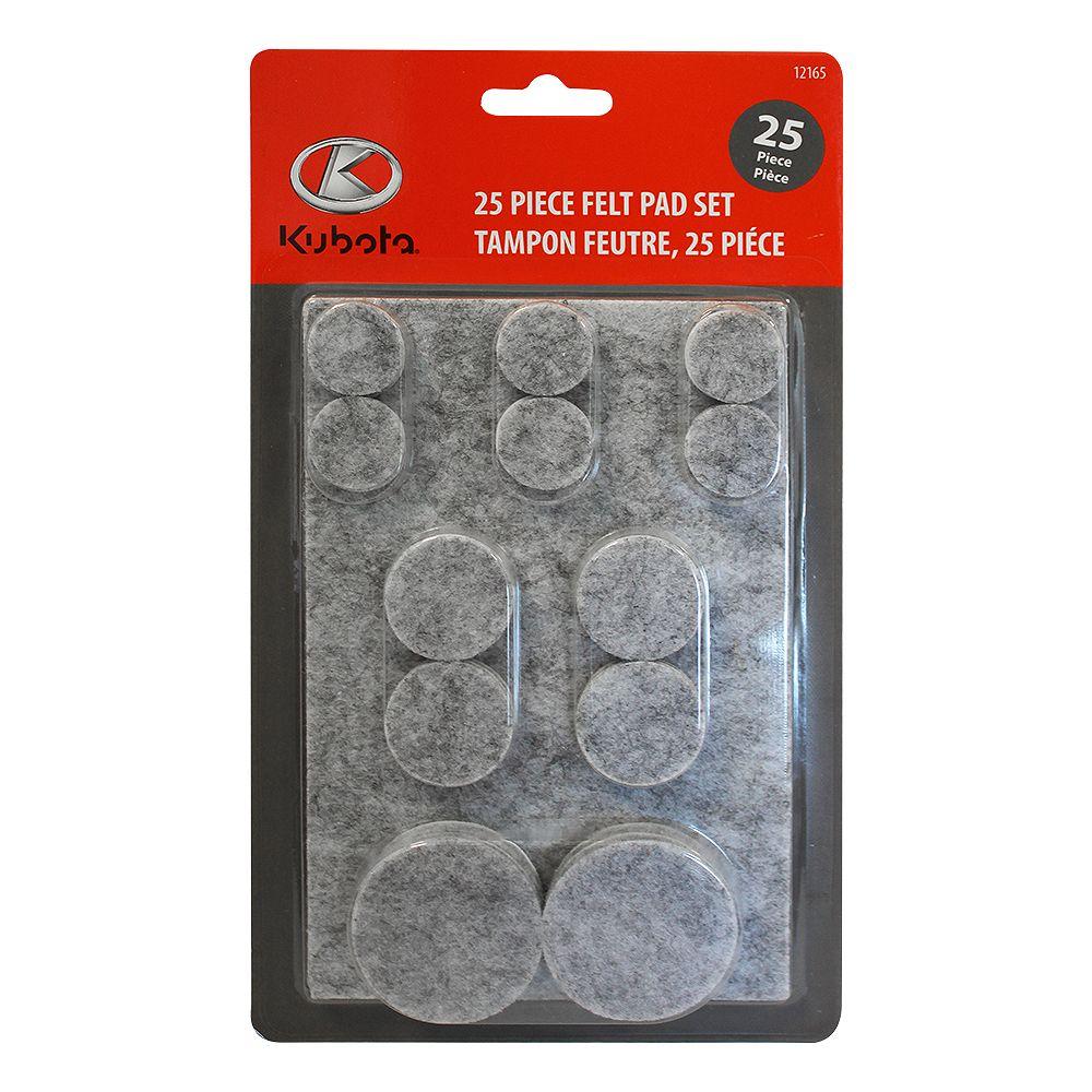 Kubota 25-Piece Round Felt Pad Set