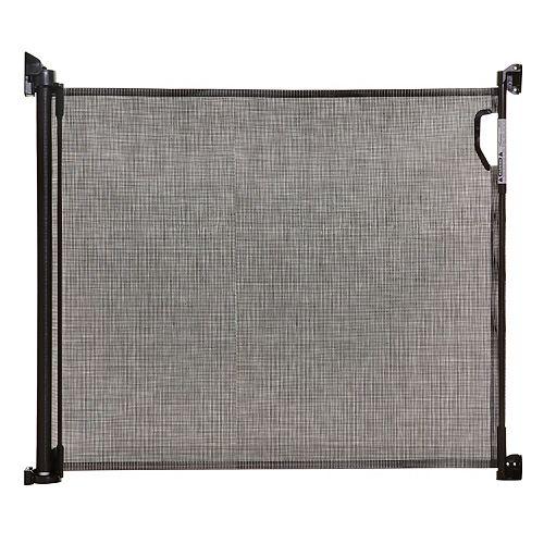 La barrière intérieure/extérieure rétractable - Noir