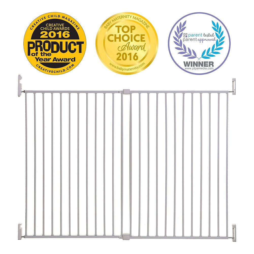 Dreambaby Broadway Xtra Tall et Xtra Wide Gro-Gate - blanche
