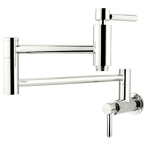 Wall-Mounted Pot-Filler in Polished Chrome