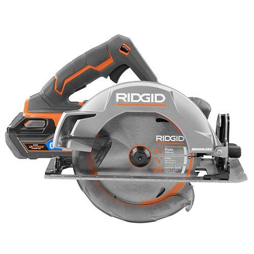 RIDGID 18V 7-1/4-Inch Brushless Cordless Circular Saw Kit with 6 Ah Battery