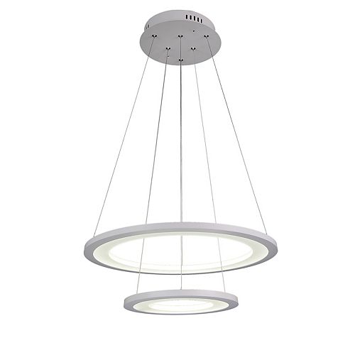 Alloha 20-inch LED  Chandelier with White Finish