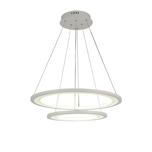 Alloha 24-inch LED  Chandelier with White Finish