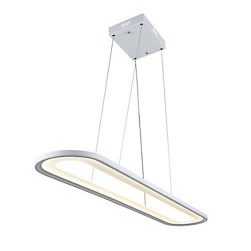 """27"""" Capel LED Lustre avec Fini blanc"""