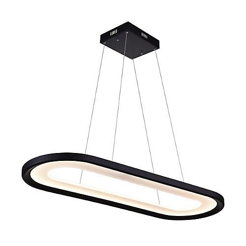 "50"" Capel LED Lustre avec Fini Noir"