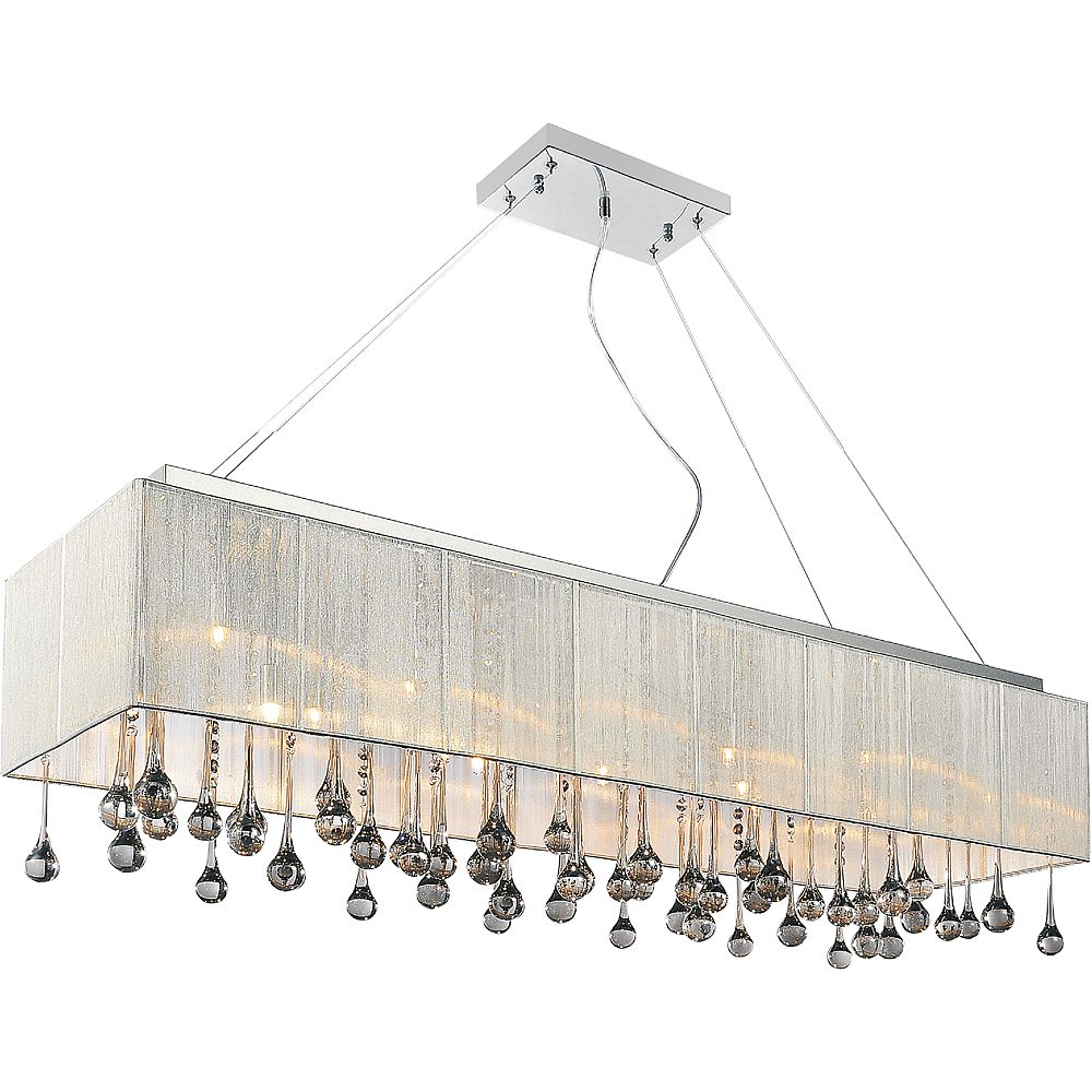 CWI Lighting Water Drop 40-inch 14 Light Chandelier with Chrome Finish