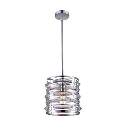 CWI Lighting Petia 10-inch 1 Light Chandelier with Chrome Finish