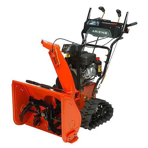 Compact Track 24-Inch, 2-Stage, 120V Electric Start Snowblower with 223cc Ariens AX Engine