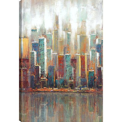 Cityscape II, Landscape Art, Canvas Print Wall Art