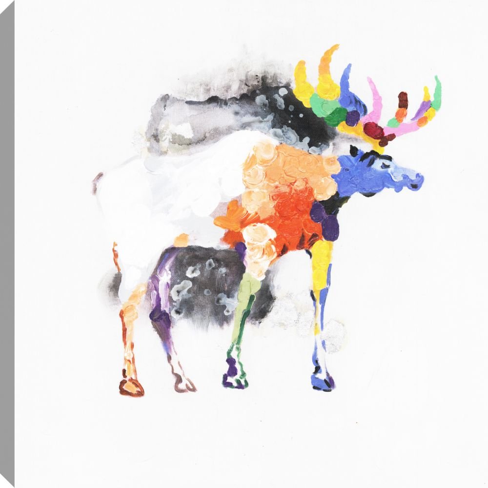 Art coloré, Animal, toile d'impression Wall Art